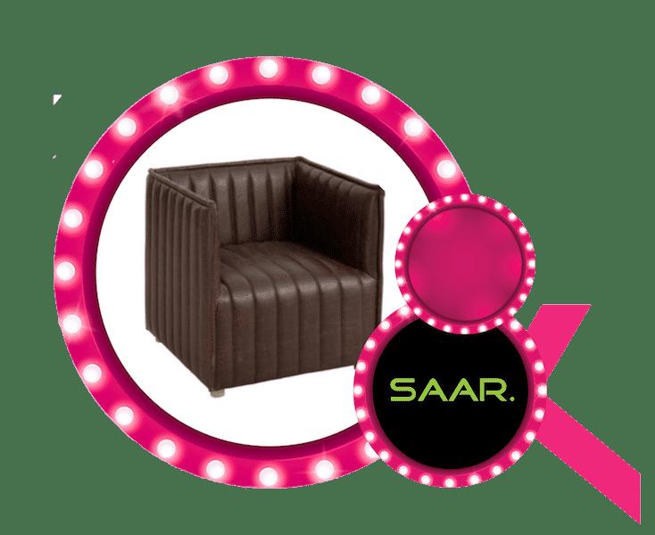 Design zetel aangeboden door Saar